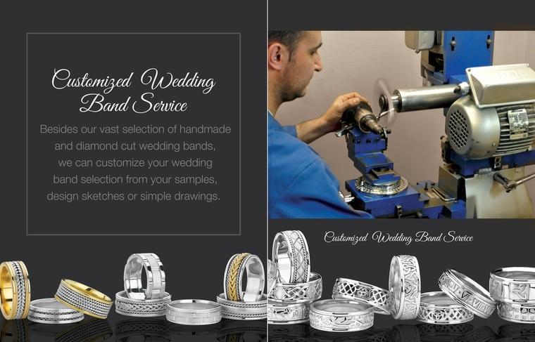 Thumb 3 customized wedding band service